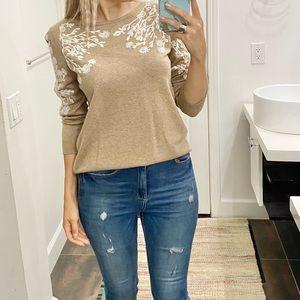 Tan color sweater size Medium